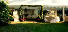 Your Wedding Reception, please come in, the greens and flowers was spectacular, well done my lady friends!