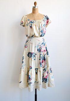 vintage 1970s bohemian dress ★★★