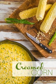 Creamed Corn made from scratch via Southern Boy Dishes with just a touch of cream. Looks so fresh and summery.