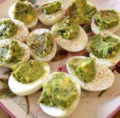 Alvacado deviled eggs