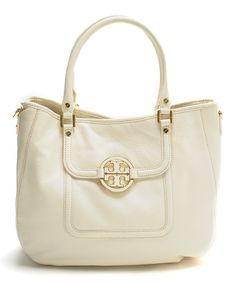 Loving this Tory Burch Bleach Leather Amanda Classic Hobo on #zulily! #zulilyfinds