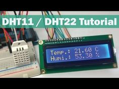 DHT11 & DHT22 Sensors Temperature and Humidity Tutorial using Arduino - YouTube