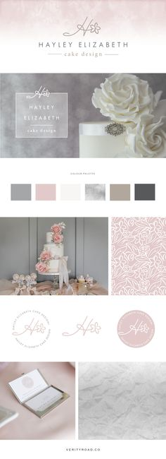 Hayley Elizabeth Cake Design - Bespoke Branding and Web Design — Verity Road