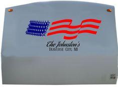 Drapeau Américain 4571 25 dimensions Sticker mural autocollant déco