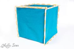 Sew Collapsible Boxes - Melly Sews