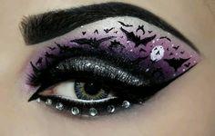 Eye makeup art cute for Halloween