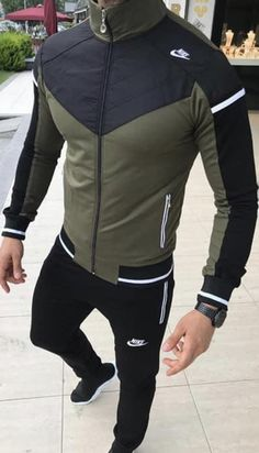 Nike Outfits, Sport Outfits, Boy Outfits, Athletic Fashion, Athletic Wear, Moda Nike, Nike Clothes Mens, Skinny Fashion, Track Suit Men