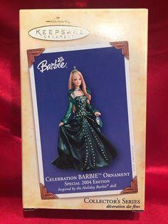 Celebration Barbie Ornament - Special 2004 Edition - 2004 Hallmark Ornaments NIB