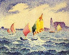 Henri Edmond Cross - Sailboats near Chicago
