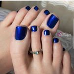 Blueberries are in season! 💙 Polish: Aruba Blue by Blue Toe Nails, Pretty Toe Nails, Blue Toes, Sexy Nails, Sexy Toes, Pretty Toes, Foot Pedicure, Pedicure Colors, Manicure And Pedicure