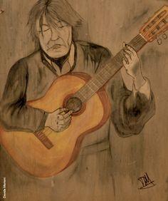 Fabrizio visto da Davide Mariani, «Buon compleanno Faber 2014» Caricature, Music Instruments, Painting, Poet, Musical Instruments, Painting Art, Caricatures, Paintings, Painted Canvas