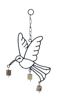 Humming Bird Design Wind Chimes with Metal Bells Patio Accent Home D | lamp | lighting, furniture | accents, home decor | accessories, wall decor, patio |garden, Rugs, seasonal decor,garden decor,patio decor
