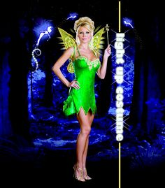 Sexy Light Up Fairy Costume #halloween #peterpan #tinkerbell