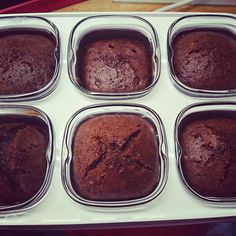 Chocolate fondant without eggs cooked in a multidelice yogurt maker - Dessert Recipes Chocolate Fondant, Chocolate Desserts, Lava, Yogurt Maker, Yogurt Parfait, Vegetable Drinks, Greek Recipes, Cooking Time, Food Hacks