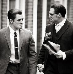 Taron Egerton and Tom Hardy  in Legend  where Taron plays Teddy Smith,  Ron Kray's (Tom) boyfriend ) | London | 15 July 2014