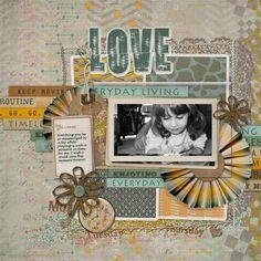 Easy Page Pro Album: 12x12 Everyday Time Mini, designed by Doris Castle, Scrap Girls, LLC digital scrapbooking product designer