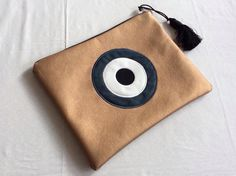 Evil Eye, Card Case, Pouches, Sunglasses Case, Wallet, Boho, Eyes, How To Make, Handmade Purses