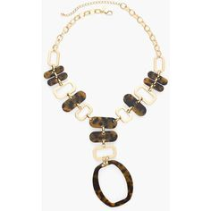 Chico's Quincy Statement Necklace ($79) ❤ liked on Polyvore featuring jewelry, necklaces, tortoise, statement necklaces, imitation jewellery, chicos jewelry, tortoise shell statement necklace and fake jewelry