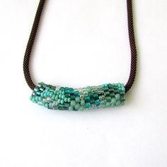 Lovely freeform peyote tube necklace.