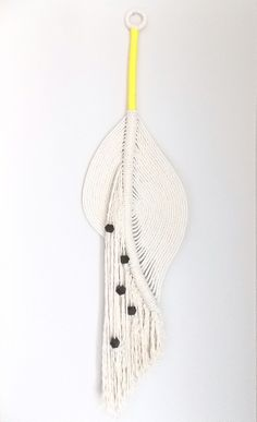 """Modern macramé wall hanging, """"The Pond no.3"""" HIMO ART  for Urban Outfitters:"""
