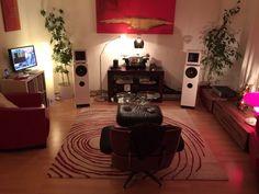 Vinyl listening room