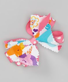 Look what I found on #zulily! White & Pink Unicorn Hair Bow by Heavenly Things for Angels on Earth #zulilyfinds