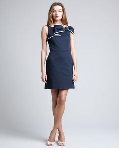 Red Valentino Navy Bow Dress