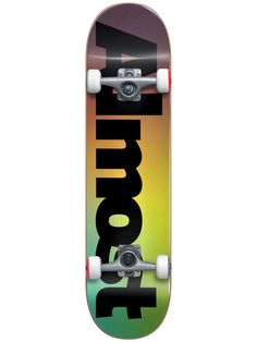 Almost Black Fade First Push Complete Skateboard Almost Skateboards, Complete Skateboards, Fade To Black, Skateboard Decks, Skateboards, Skate Board