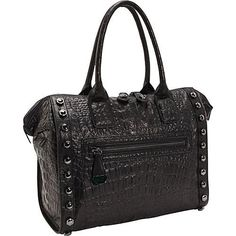 8616f85f3f Kenneth Cole New York Bolt Around Satchel Black - Kenneth Cole New York Designer  Handbags