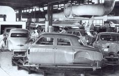 "Studebaker Assembly Line: ""First by Far with a Postwar Car!"""