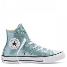 f190f9ccf12c8f Chuck Taylor All Star Junior Glitter High Top Bleached Aqua