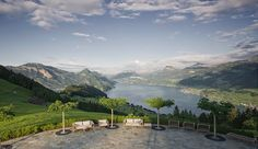 Villa Honegg Garden House. Luxury Hotel. Switzerland. The enchanting views of the vast Lake Lucerne and Swiss Alps are unimaginably better from your own private villa nestled into the landscape.