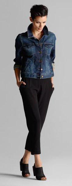 cropped denim jacket #eileenfisher