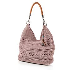 Buy The Sak Crochet Knit Bucket Bag with Leather Shoulder Strap - Online Shopping for Canadians