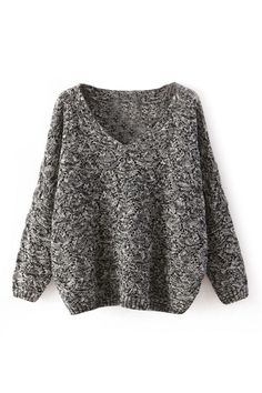 ROMWE | V-neck Hollow Casual Jumper