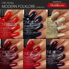 CND Shellac Modern Folklore Collection Swatches