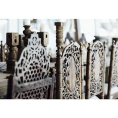 Manyara Home :: Furniture :: Chairs :: Vintage Colonial Indian Feature Dining Chairs - Isle