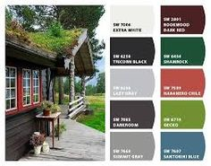 Image result for traditional norwegian house color charcoal