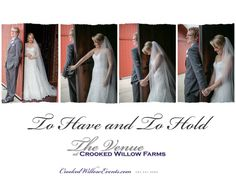 To Have and To Hold - The Venue at Crooked Willow Farms