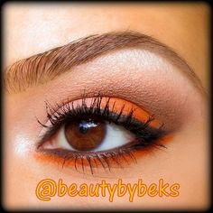 orange eye makeup. follow me on Instagram for all product details! :) @beautybybeks