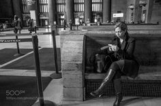 Woman Waiting in Train Station February 2016 by AlanBarr