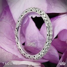 An enchanting beauty, Tacori Classic Crescent Eternity Scalloped Millgrain Diamond Wedding Ring