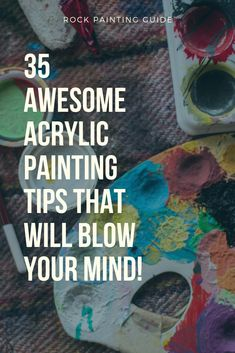 35 Awesome Painting Hacks Every Artist and Crafter Should Know. Rock Painting Guide offers a Free Bo Acrylic Painting For Beginners, Acrylic Painting Techniques, Beginner Painting, Acrylic Painting Canvas, Acrylic Art, Acrylic Tips, Paint Techniques, Acrylic Painting Tutorials, Painting Hacks