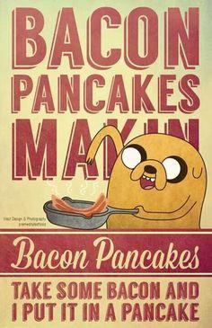 Adventure Time Bacon Pancakes