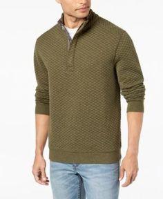 Tommy Bahama Men's Quiltessential Half-Zip Pullover - Green XXL
