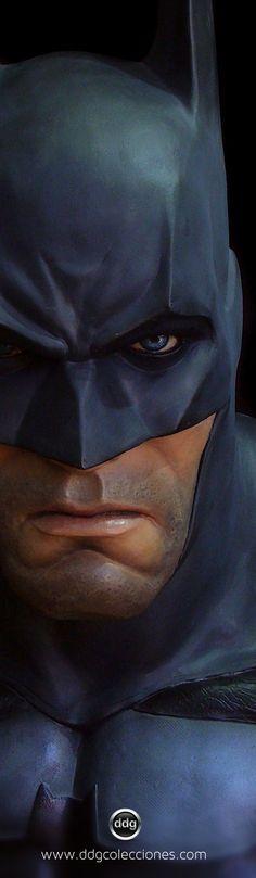 9/14/14 12:21a   Batman Life Size Bust Sculpture  Scowling Deadly Dark Scruff theheaveyshow.tumblr.com