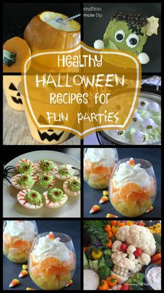 15 Healthy Recipe Ideas for Fun Halloween Parties from SimplifyLiveLove.com…