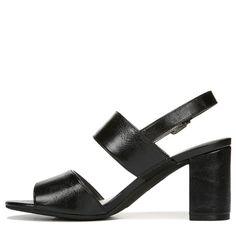 Lifestride Women's Chemistry Medium/Wide Dress Sandals (Black) - 11.0 M
