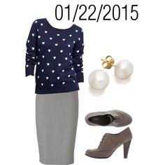 """Blue & Gray: Thursday, January 22, 2015"" by josiegirl77 on Polyvore"