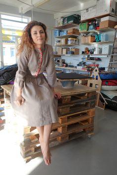 """Платье """"Земляничная поляна"""" размер 42-44 , мастерская KSENIIA."""